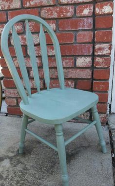 What was once discarded is now a beautifully restored shabby vintage inspired children's chair <3  After some TLC and a fresh coat of paint and wax it became my first piece sold online!  So exciting!  $65 SOLD