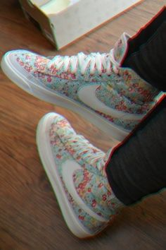 I would rock these floral nikes