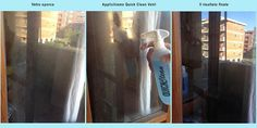 Pulire vetri senza lasciare aloni con #quickclean