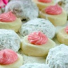 Butter Meltaways with Pink Frosting