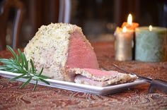 Roast Beef with Garlic Mustard Crust – Switch up #Christmasdinner this year by featuring a crisp-on-the-outside juicy-on-the-inside cut of meat made perfectly in the Ninja Cooking System.