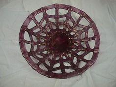 Float glass fruit basket coloured with lustres Luster, Basket, Fruit, Glass, Inspiration, Color, Biblical Inspiration, Drinkware, Corning Glass