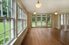 Family room - windows, hardwoods