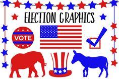 Election Vector Graphics by Paula Kim Studio on @creativemarket