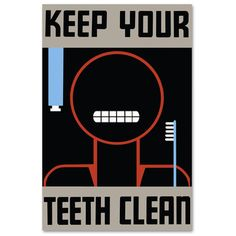 Keep Teeth Clean Print, 28€, now featured on Fab.