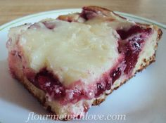 Danish Cherry Cheesecake Recipe ~ Says: A layer of cake danish dough, then cherries, then a decadent layer of cream cheese that turns out like creamy cheesecake.   We ate it while it was a little warm and it was perfect!  This would be a wonderful dish to make for Mother's Day