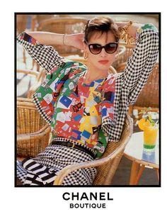 Best 80's Fashion Look : Repin from L. Froehlicher's board: Chanel Campaign with Ines de la Fressange - Fashion Diiary - #1 Source For Fashion & Lifestyle Inspiration