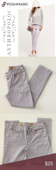 "Anthropologie Pilcro Lavender Stet Ankle Jeans ✔️Lavender/Gray Color ✔️Slit at Ankle Hem ✔️Inseam: 25.5"" ✔️97% Cotton•3% Spandex ✔️No Holes, Stains or Damages Anthropologie Jeans Ankle & Cropped"
