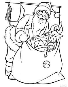 Babbo Natale colorare
