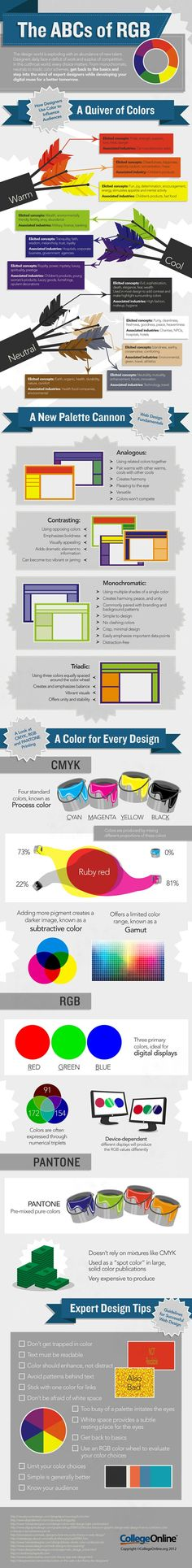 Color Theory : Graphic Design Tips #infographic