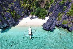 Travel Philippines   Entalula Island near El Nido, Palawan, Philippines © Sabrina Iovino   via @Just1WayTicket