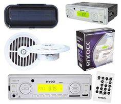 Marine Indash USB Media Radio w/Remote Speakers w/Splashproof Cover Radios, Cheap Car Audio, Car Audio Systems, Car Amplifier, Head Unit, Usb Drive, Remote, Speakers, Mp3 Player