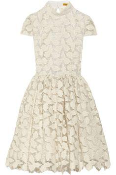 Alice + Olivia|Jayna metallic cotton-blend lace dress
