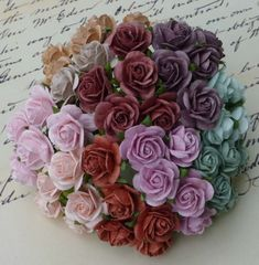 20 x 1.6cm OPEN ROSES MULBERRY PAPER FLOWERS Papercrafts & Card Embellishments  #SweetpeapollysCraftyThings
