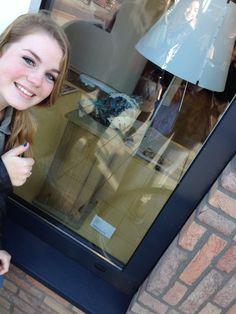 Selfie etalage kunstroute