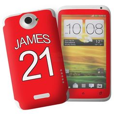 Personalised Manchester United Style HTC One X Phone Skin