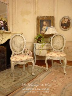 Shabby French boudoir chair Dollhouse castle by AtelierdeLea