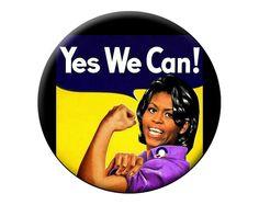 Michelle Obama Magnet  via Etsy.