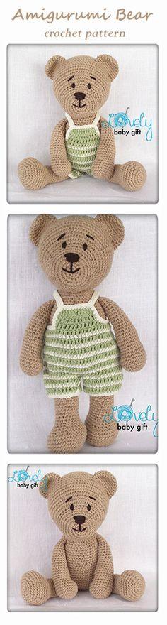 Amigurumi Bear Pattern, crochet pattern, amigurumi pattern, häkelanleitung, haakpatroon, hæklet mønster