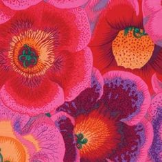 Kaffe Fassett Collective for FreeSpirit presents Gloxinias in Pink as part of the Kaffe Fassett Collective Stash collection by Philip Jacobs Westminster, Fabric Patterns, Print Patterns, Fun Patterns, Floral Patterns, Tula Pink Fabric, Free Spirit Fabrics, Fabric Art, Quilting Fabric