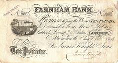 10 pound banknote...one example from 1883...I understand there were many banks issuing their own banknotes