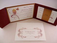 fall wedding invitations   Plush Paper Creations Blog: Angela & Jeremiah : Wedding Invitations