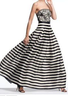 Fashion Questions: Should the hem of an evening gown touch the ground so shoes are not showing?