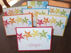 My Stamping Friends: Stampin' Up! Outlined Occasions & Sprinkled Expressions Rainbow Cards