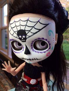Dia de los Muertos OOAK Custom Blythe Doll ISADORA by EmmyBlythe