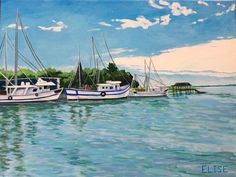 Shem Creek Shrimp Boats | Elise Nuckols Art | Charleston, SC