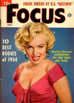 Marilyn Monroe- Focus, June, 1954.