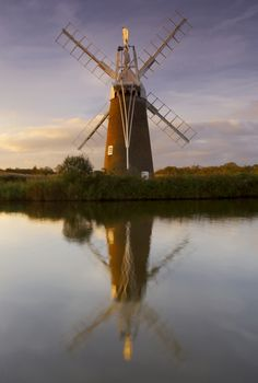Windmill in Norfolk Broads.#Repin By:Pinterest++ for iPad#