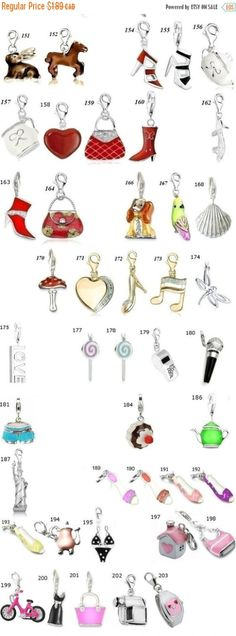 ON SALE Bulk 3D Charms Pick any from over 450charm by BeeOkJewelry