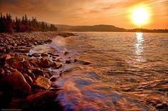 Sunrise at Acadia National Park, Maine.