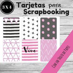 Tarjetas imprimibles para proyectos de Scrapbooking- project life y journaling. Journaling cards.