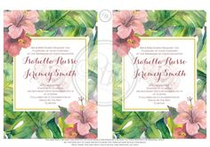 Tropical Island Invitation-INSTANT DOWNLOAD by RBHDesignerConcepts