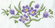 Crocus Spray design (D4449) from www.Emblibrary.com