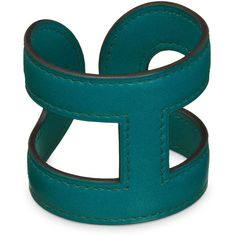 Hermès Ano Bracelet Izmir Blue ($620) ❤ liked on Polyvore featuring jewelry, bracelets, cuff, cuff bracelet, cuff jewelry, blue jewelry, leather jewelry and cuff bangle