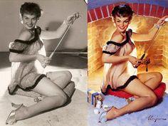 Estas son las mujeres de carne y hueso que inspiraron las ilustraciones pin-up