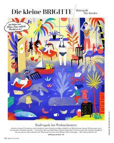 Elsa Klever Illustration — Brigitte Editorial Design, Frosted Flakes, Illustration, Elsa, Box, Drawing S, Kids, Snare Drum, Illustrations