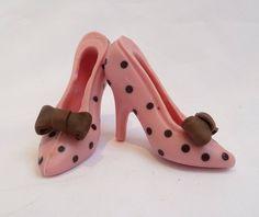 Small Chocolate Shoes Pink Polka Dot