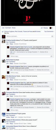 2014 - Venerio Argento - FB post - negozi e prezzi