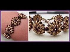 video: Oh Bracelet - with superduos, o beads, seed beads & crystals (look for links to matching ewelry -- pendant, ring, etc.)