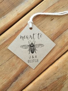Meant to Bee Wedding Favor Tags Honey favors tags Meant to Bee Wedding Favor Tags Honey Honey Wedding Favors, Succulent Wedding Favors, Creative Wedding Favors, Elegant Wedding Favors, Inexpensive Wedding Favors, Edible Wedding Favors, Personalized Wedding Favors, Wedding Favors For Guests, Wedding Favor Tags