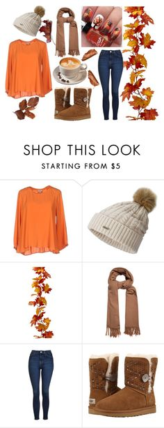 """""""Fall Coffee"""" by blooming-smiles ❤ liked on Polyvore featuring Her Shirt, SOREL, Acne Studios, Topshop and UGG"""