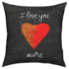 With an inspirational script motif and heart detail, this chalkboard-inspired pillow makes a lovely addition to your decor.   Produc...