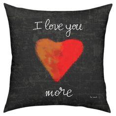 Love You More Pillow at Joss & Main