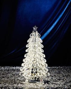 Faceted Glass 12 Christmas Tree