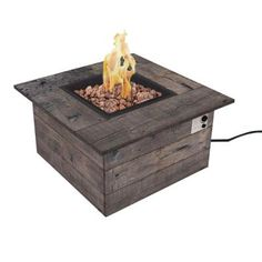 Real Flame Baltic 51 in. Rectangle Propane Gas Outdoor Fire Pit in ...