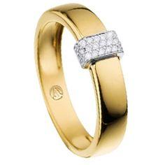 Anel Ouro Amarelo e Diamantes Ventura